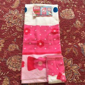 Other - Hello Kitty bath towel & washcloth set.